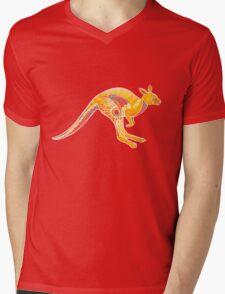 Mandala Kangaroo Mens V-Neck T-Shirt