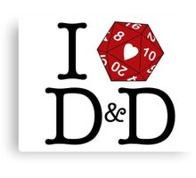 I Heart D&D Canvas Print