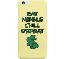 EAT, NIBBLE, CHILL, REPEAT, by Furrphy's iPhone Case/Skin