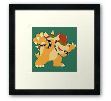 Smash Bros - Bowser Framed Print