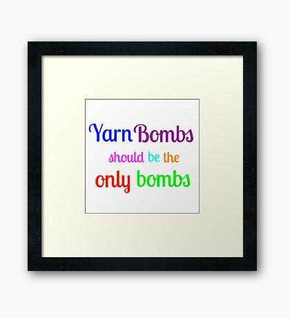 Yarn Bombs! Framed Print