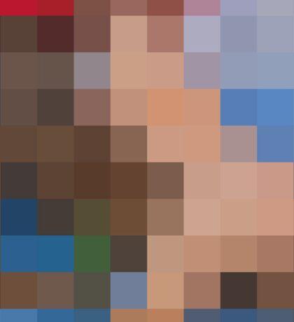 Kanye West My Beautiful Dark Twisted Fantasy Pixelated Cover Art Sticker