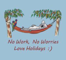 Hammock Sleeping Koala - No work, no worries by JumpingKangaroo