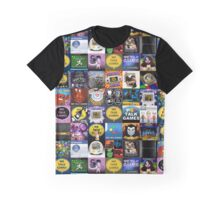 We Talk Games Cover Art Stacked Graphic T-Shirt