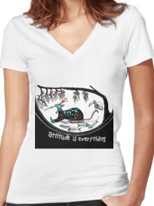 Attitude is everything (collaboration) Women's Fitted V-Neck T-Shirt
