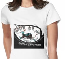 Attitude is everything (collaboration) Womens Fitted T-Shirt