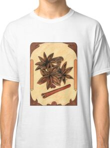 Art nouveau. Cinnamon and anise. Classic T-Shirt