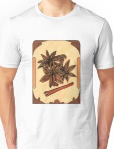 Art nouveau. Cinnamon and anise. Unisex T-Shirt