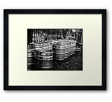 Kegs In The Street Framed Print