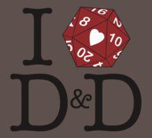 I Heart D&D Baby Tee