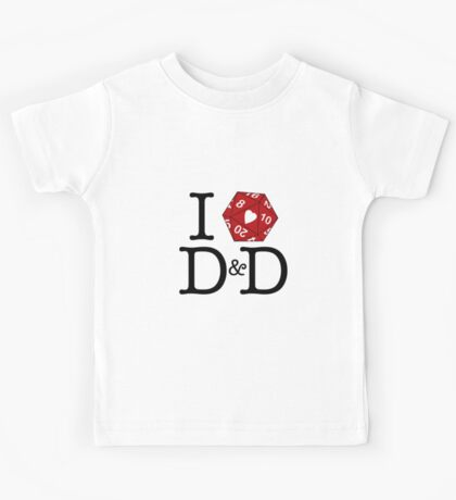 I Heart D&D Kids Tee