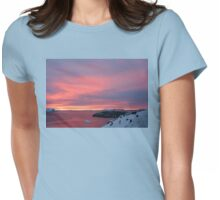Antarctic Sunset Womens Fitted T-Shirt