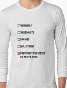Stiles Stilinski- Teen Wolf Checklist (light) Long Sleeve T-Shirt