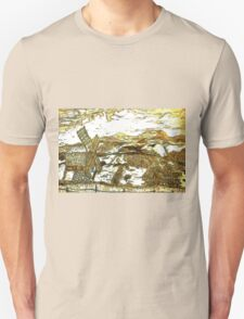 A digital painting of my pencil drawing of a traditional Romanian windmill Unisex T-Shirt