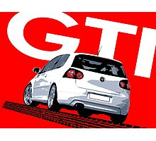 VW Golf 5 GTI Tiremark Photographic Print
