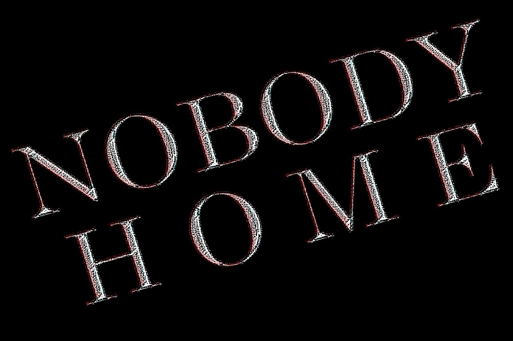 *NOBODY HOME* by TeaseTees
