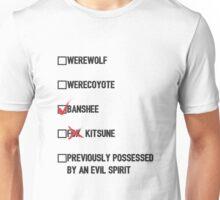 Lydia Martin- Teen Wolf Checklist (light) Unisex T-Shirt