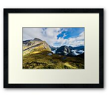 Milford Track - The Mackinnon Pass Framed Print