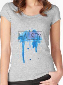 Halsey | Watercolor Women's Fitted Scoop T-Shirt