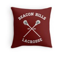 BEACON HILLS LACROSSE LOGO Throw Pillow