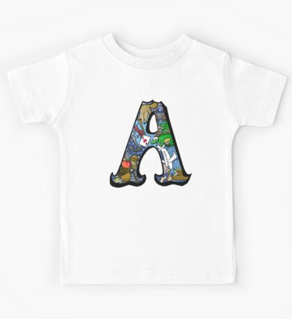 Doodle Letter A Kids Tee