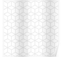 Light grey and white blocks Poster