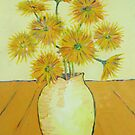 Flowers in a bowl in the style of Van Gogh by Gary Shaw