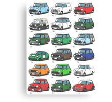 Mini time line Canvas Print