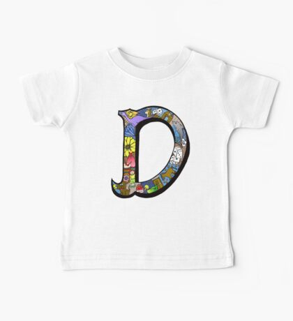 Doodle Letter D Baby Tee