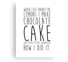 Life and Lemons Canvas Print