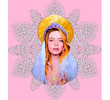 Saint Lindsay Icon Saturated 100 Pink Photographic Print