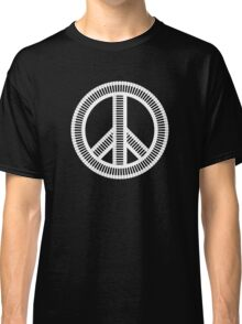 Black isolated creative musical peace sign Classic T-Shirt