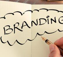 Motivational concept with handwritten text BRANDING Sticker