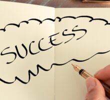 Motivational concept with handwritten text SUCCESS Sticker