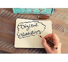 Motivational concept with handwritten text DIGITAL MARKETING Photographic Print