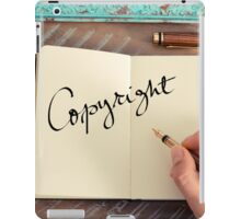 Motivational concept with handwritten text COPYRIGHT iPad Case/Skin
