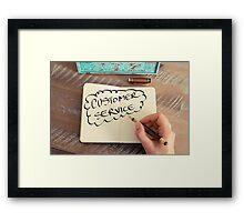 Motivational concept with handwritten text CUSTOMER SERVICE Framed Print