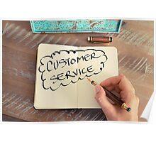 Motivational concept with handwritten text CUSTOMER SERVICE Poster