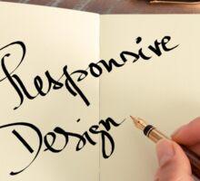 Motivational concept with handwritten text RESPONSIVE DESIGN Sticker