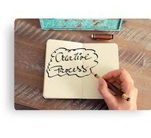 Motivational concept with handwritten text CREATIVE PROCESS Canvas Print