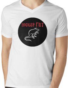 Mouse Rat Logo Mens V-Neck T-Shirt