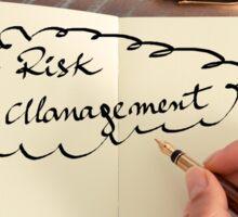 Motivational concept with handwritten text RISK MANAGEMENT Sticker