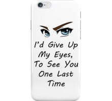 Escape The Fate Lyrics - Picture Perfect iPhone Case/Skin