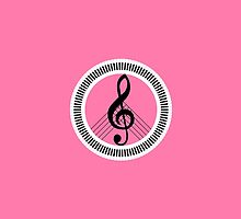 Peace icon creative Musical Note G-Clef by igorsin