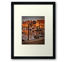 Bathed in golden light - Blakeney quay  Framed Print