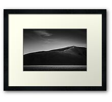 Flowing zone Framed Print