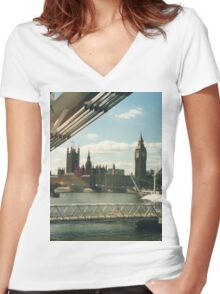 Simply A London Landscape Women's Fitted V-Neck T-Shirt