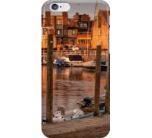 Bathed in golden light - Blakeney quay  iPhone Case/Skin