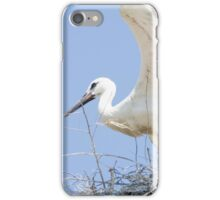 White Stork Couple in their Nest iPhone Case/Skin