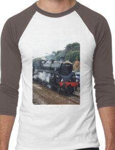 The Dawlish Donkey Steam Train Men's Baseball ¾ T-Shirt